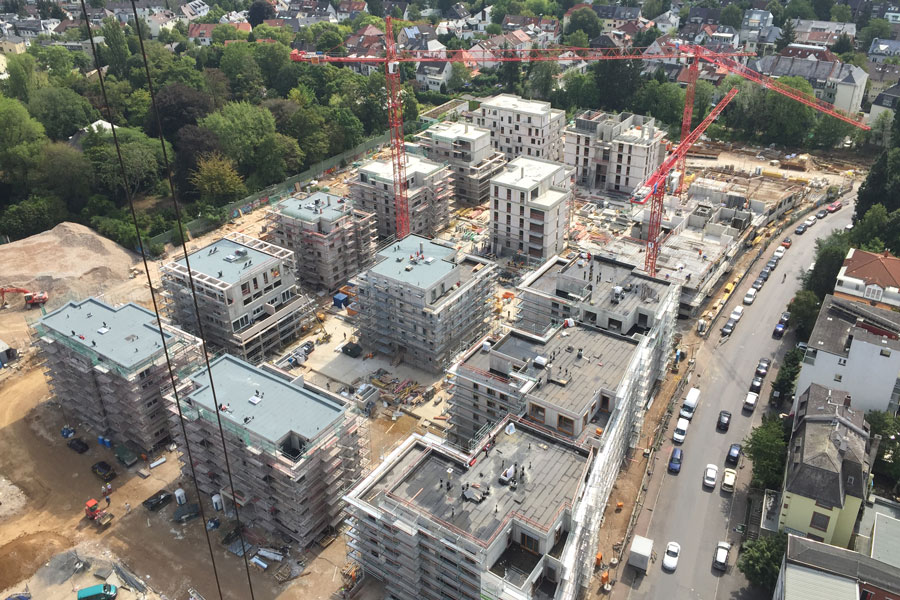 Henninger Turm Streib Bau
