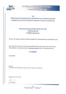 DQB-Präqualifikationsbestätigung